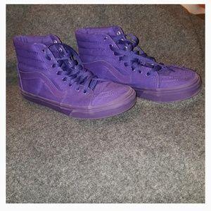 Purple Vans high top sneakers